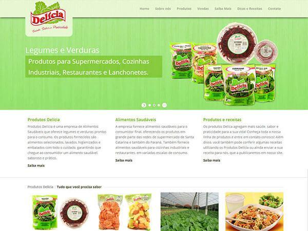 Site Produtos Delícia
