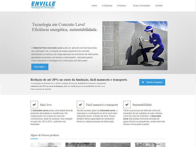 Site Enville Técnologia Em Construções