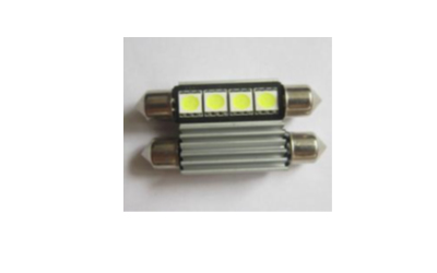 LED TOR Dec. 4 SMD 5050 41mm Super Branca 12V