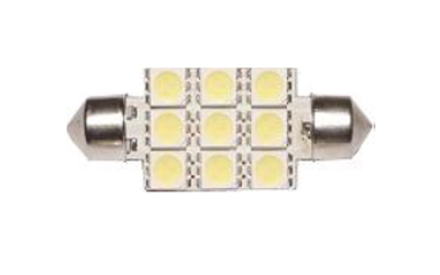 LED TOR 9 SMD 5050 41mm Super Branca 12V