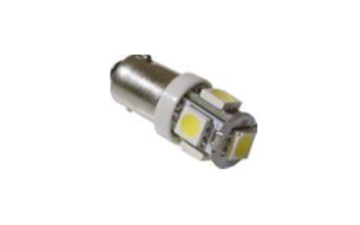 LED BA9S 5 SMD 5050 Super Branca  12V