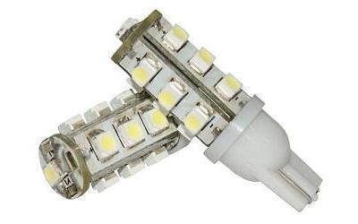LED T10 16 SMD 1210 Super Branca 12V