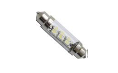 LED TOR 6 SMD 1210 TUBO 41mm Super Branca 12V