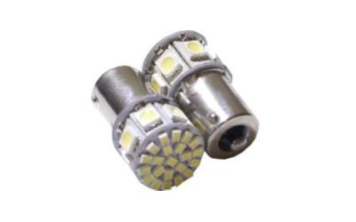 S25 LED 1 Polo 7 SMD 5050 +22 SMD 1206 Super Branca 12V