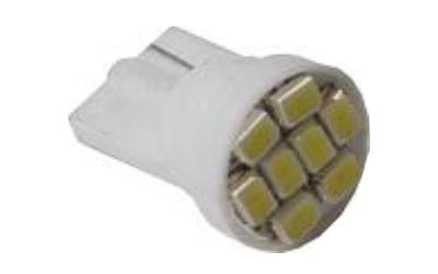 Lâmpadas LED - T10 8 SMD 1206 Super Branca