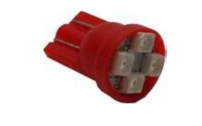 T10 4 SMD 1210 Vermelha 12V