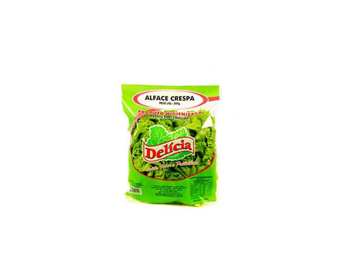 Alface Crespa Delícia Higienizado 200 gramas