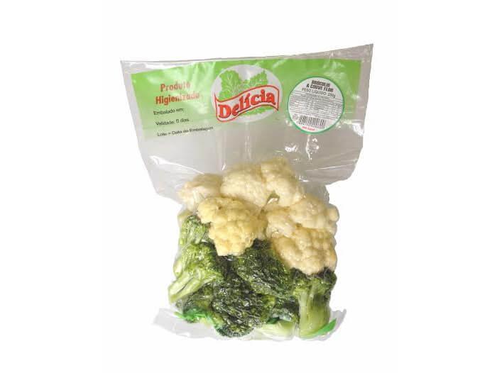 Brócolis com Couve Flor Delícia Higienizado 250 gramas