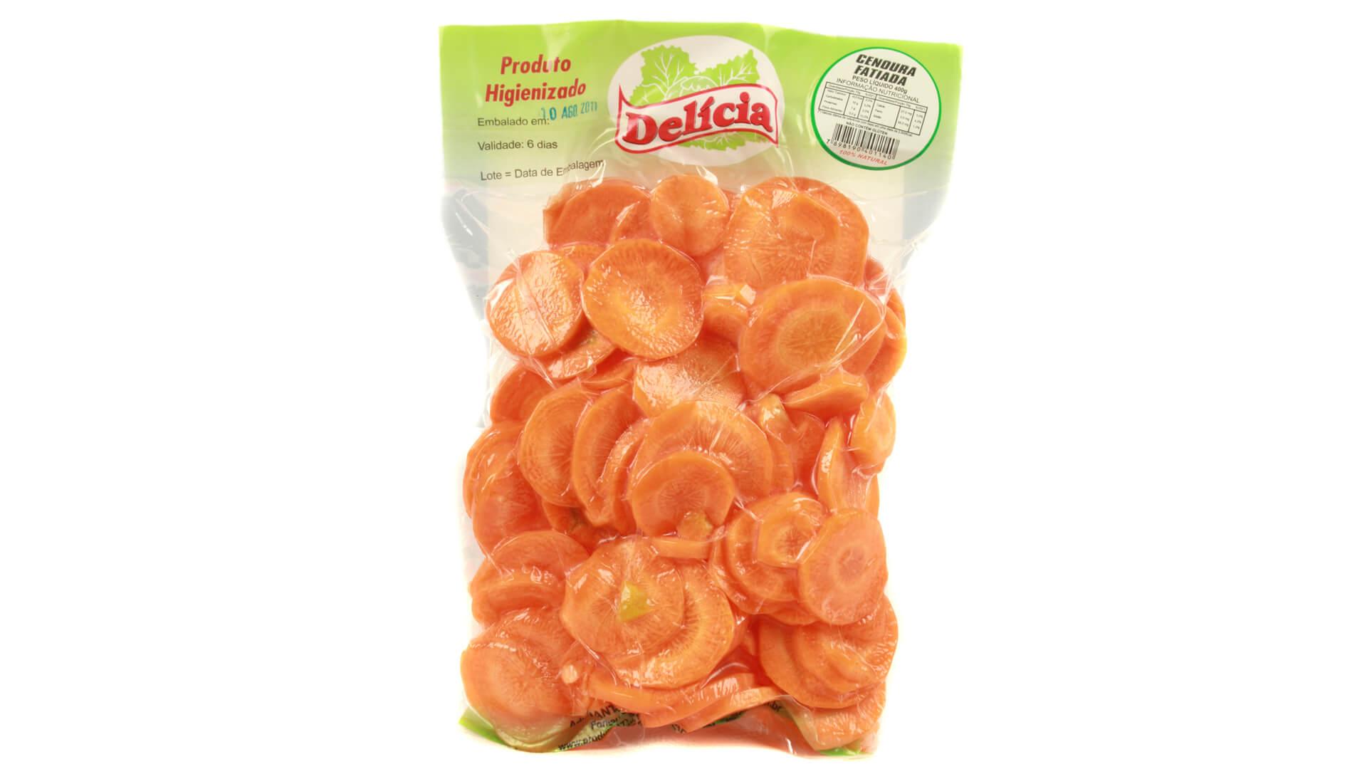 Cenoura Fatiada Delícia Higienizada 400 gramas