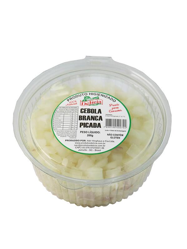 Cebola Branca Picada Delícia Higienizado 200 gramas