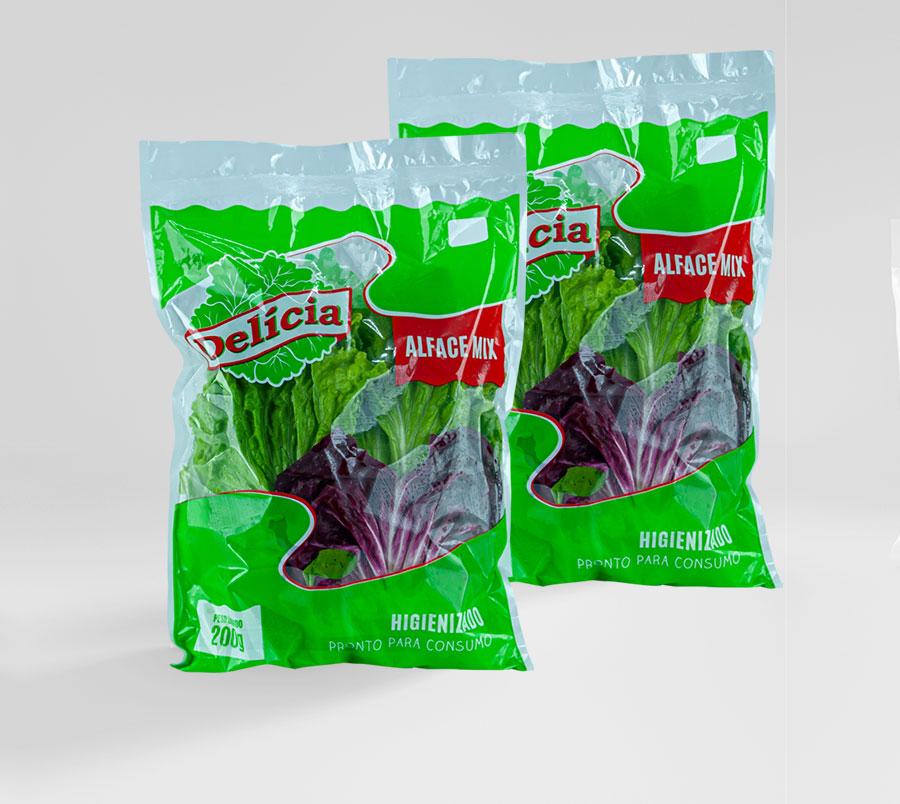Alface Mix Delícia Higienizado 200 gramas