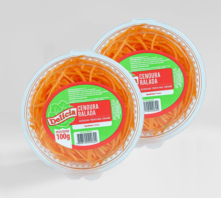 Cenoura Ralada Delícia Higienizado 100 gramas