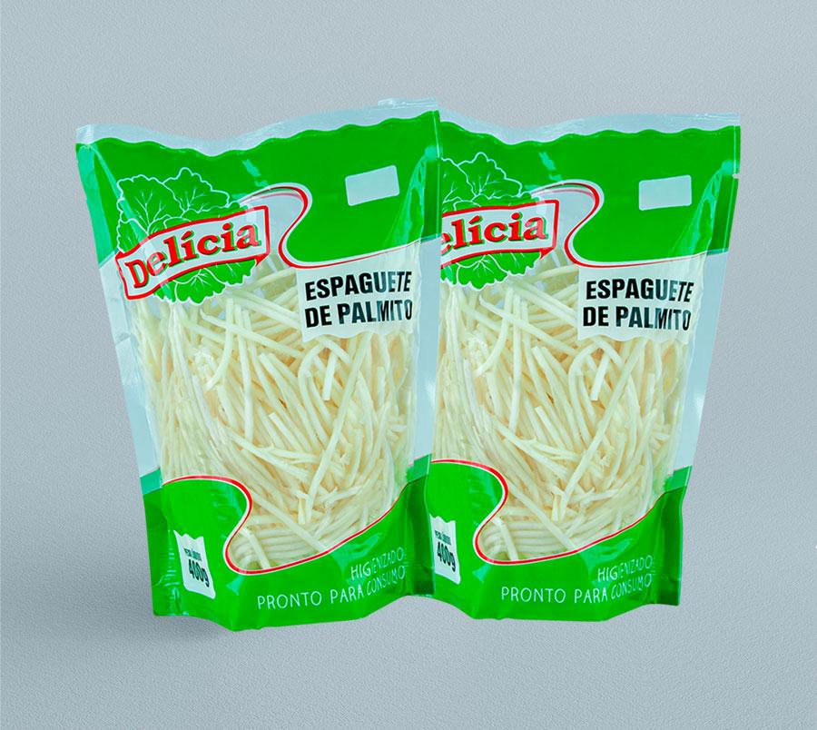 Espaguete de Palmito Pupunha Delícia 400 gramas