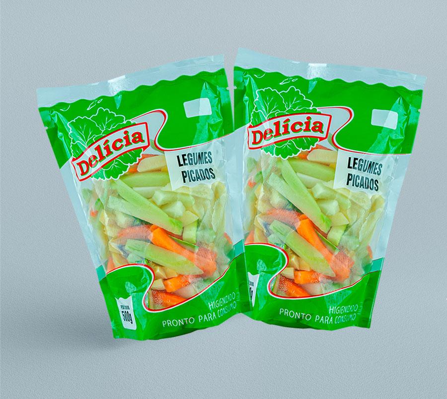 Legumes Picados Delícia Higienizado 500 gramas