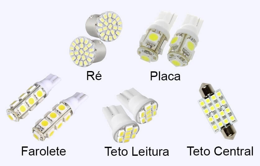 Lampada led automotivas