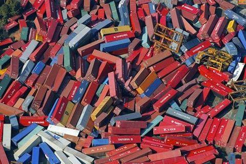 Desastre com os Containers