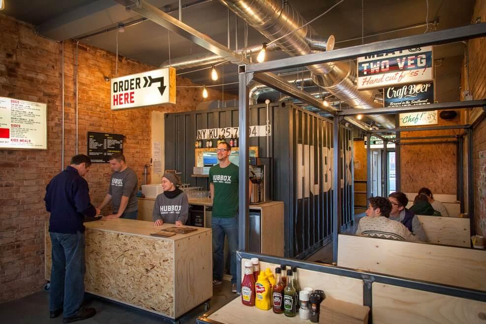 Cozinha Containe, restaurante, Lanchonetes e muitas outras opções em containers