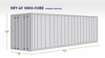 Container Dry 40 Pés (HC)