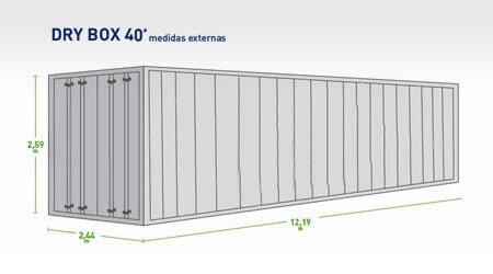 Container Dry 40 Pés