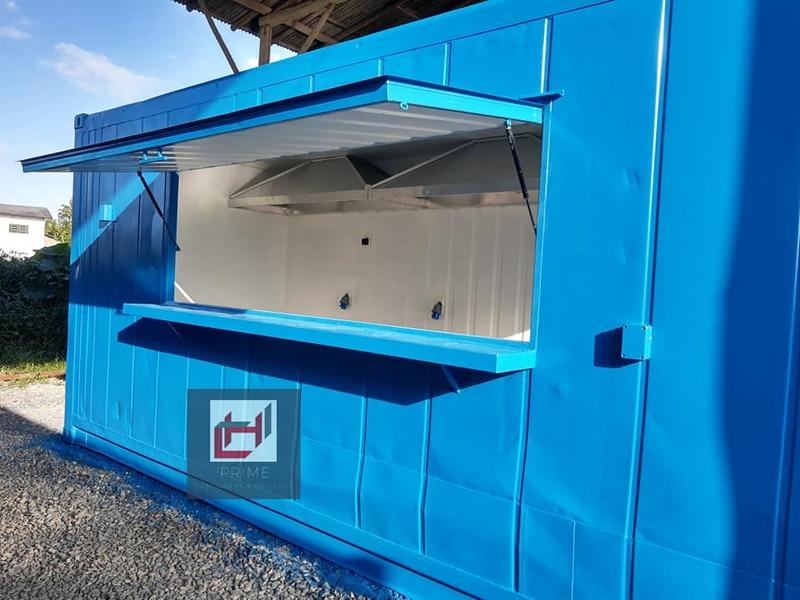 Lanchonete em container Reefer de 20 pés HC