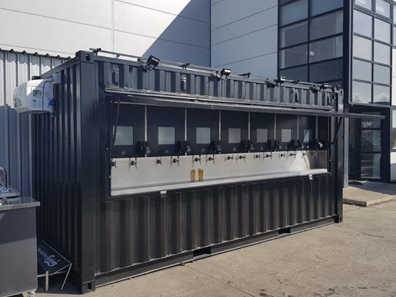 Chopeira automatizada em container