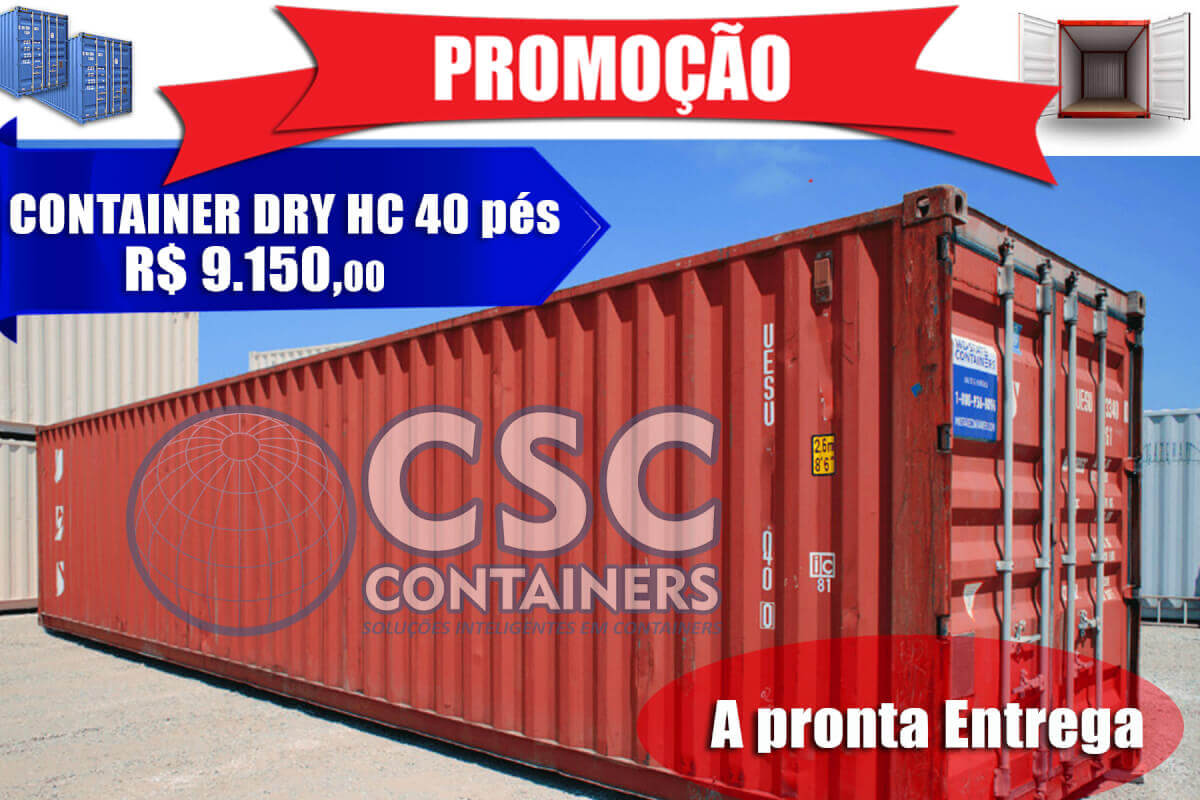 Container Dry de 20 e 40 pés